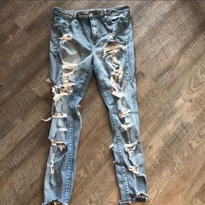 AMERICAN EAGLE Double sided ripped jeans